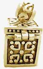 LOOK Opens Zeus Pandora's Box Hope Chest Charm Gold plated