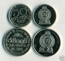 2 UNCIRCULATED COINS from SRI LANKA - 50 CENTS & 1 RUPEE (BOTH 2004)