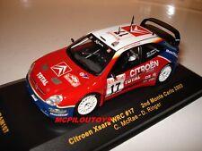 IXO RAM107 CITROEN XSARA WRC N°17  MONTE CARLO 2003 au 1/43°
