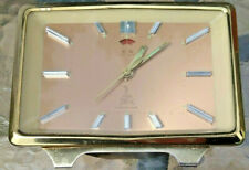 More details for vintage mid century five rams square wind up alarm clock full working order