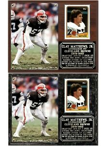 Clay Matthews, Jr #57 Linebacker Cleveland Browns Photo Card Plaque