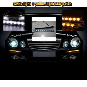 12V Car 9LED Daytime Safty Running Lights Car Net/Flashing lights With Steering
