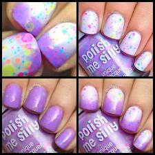 Color Changing Thermal Nail Polish with Blended UV Indie Glitter- Lilac Lover