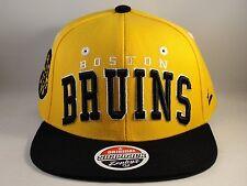 NHL Boston Bruins Snapback Hat Cap Zephyr Superstar