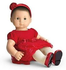 American Girl Bitty Baby TWINKLE PARTY DRESS Christmas holiday shoes red NO DOLL