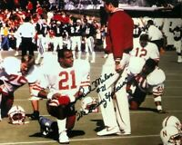 NEBRASKA FOOTBALL PAUL MILES #21 AUTOGRAPHED SIGNED TOM OSBORNE PHOTO INSCRIBED