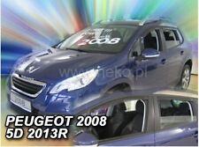 4 Deflettori Aria Antiturbo PEUGEOT 2008 2013 in poi 5 porte