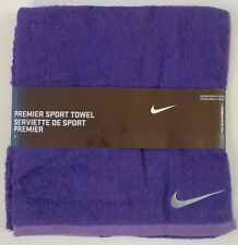 Nike Premier Sport Towel Purple Soft Cotton Medium 80cm x 40cm New