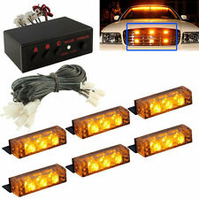 Waterproof 18 LED Emergency Vehicle Car Strobe Flash Lights Front Grille Truck
