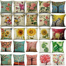"""18x18"""" Throw Pillow Cover Floral Plants Decorative Flower Bed&Room Cushion Case"""