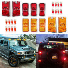 Amber/red Roof Cab Marker Light w/Halogen Bulbs for 2003-2009 Hummer H2 SUV SUT