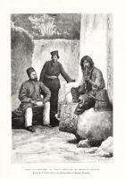 Antique Print-IRAN-PERSIA-NOBLEMEN-DERVISH-MENDIANTS-COSTUME-Reclus-Fritel-1884