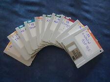 DRUMS PERCU 10 disquettes sample pour S-330 S-550 ROLAND