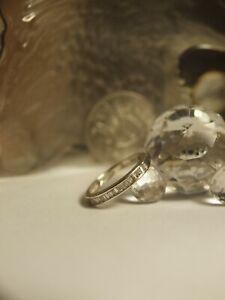 GENUINE 375 YELLOW GOLD LADIES NATURAL DIAMOND ETERNITY RING !