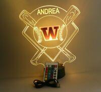 Washington Huskies Baseball Stadium LED Sports Light Lamp Personalized & Remote