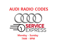 **OFFICIAL** AUDI Radio Code Pin Unlock Code Service - FAST SERVICE