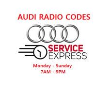 AUDI Radio Code Unlock Code Service RNS-E Plus + Symphony Concert 2 Chorus