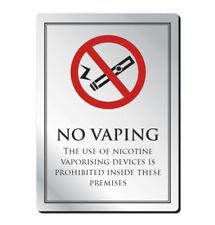 10 Pegatinas de no fumadores no vapeo ver ambos lados sobre el vidrio signo de la etiqueta engomada 70 mm