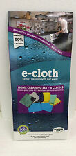 E-Cloth Home Cleaning Set of 8 Cloths e cloth Green Clean New