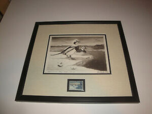 1967 Federal Duck Stamp Framed Print Les Kouba RARE!