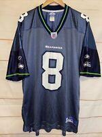 Men's REEBOK Seattle Seahawks NFL GJersey Matt Hasselbeck #8 Blue XL Extra Large