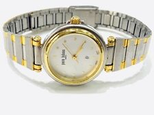 Vintage Pierre Bideaux Women's Quartz  Wrist Watch TwoTone N.O.S(20410M)