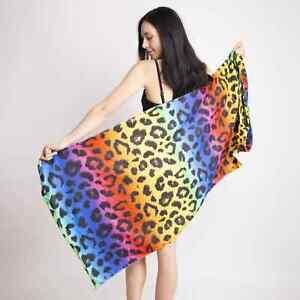 Rainbow Cheetah Print Towel Handbag