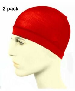 2 x Red STOCKING WAVE CAP Flexible Breathable Sexy Wave Hat Headband