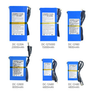 4800-20000mAh Batterie Wiederaufladbare Tragbare Leistung Li-Ion Akku DC 12V