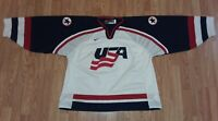 Authentic Nike Team USA Olympic Hockey Jersey Made in Canada XL