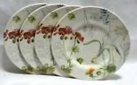 Royal Stafford Sketchbook Floral Salad Plates Set of Four New