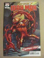 Tony Stark Iron Man #14 Marvel 2018 Series Carnage-ized Variant 9.2 Near Mint-