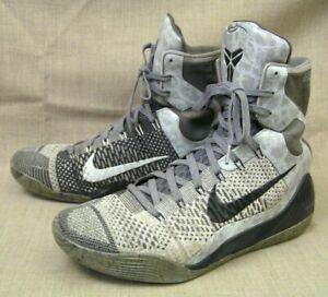 2014 Nike Kobe IX 9 Elite Detail Grey & Black 630847-003 Basketball Shoes Sz. 13