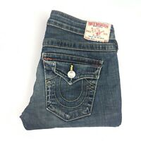 True Religion Womens Billy Blue Denim Jeans Size 27 Made In USA