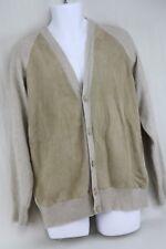 SILVIA y MARIO Beige Merino Wool Cashmere Boho Hang Cardigan Sweater Men's 58 L