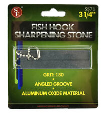 Fishing Hook 180 Grit Sharpening Stone With Angled Groove