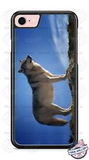 Gray Wolf Canine Hunter on Rock Phone Case fits iPhone Samsung LG Google HTC etc