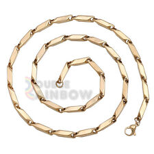 """C3 24""""inch men stainless steel Gold 5mm Bullet necklace chain Link Free Shipping"""