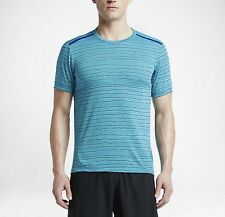 New Nike Tailwind Dri Fit Running Shirt Turquoise Mens Size Xl 872018 418