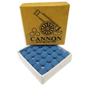 Cannon Blue Velvet Snooker Pool Billiards Cue Tips 9, 10, 11, 12, or 13 mm