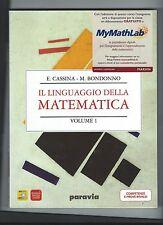 Omaggio Linguaggio della matematica Vol. 1 Cassina Ed. Paravia Regalo Invalsi