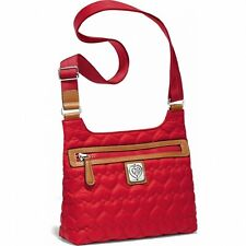 NWT Brighton KASH Quilted POPPY Red Crossbody Messenger Bag MSRP $200
