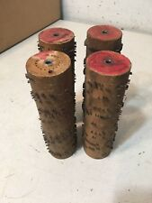 Lot Of 4 Antique Gem Roller Organ Cobs #2 Some Religious