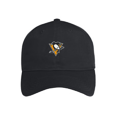 Pittsburgh Penguins adidas Coaches Slouch Aeroready Adjustable Black Hat / Cap