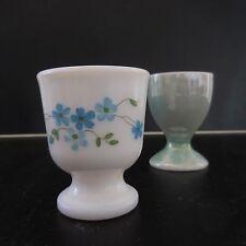 2 coquetiers en céramique opaline porcelaine art-déco art-nouveau