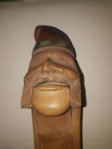 Vintage Ulvik c1940's Hand Carved  Nutcracker from Norway