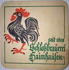alter Bierdeckel Schlossbrauerei Haimhausen 🍺 H-75