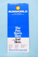 Sunworld Time Table - 11/16/86