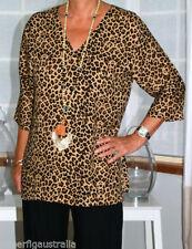 Animal Print 3/4 Sleeve Unbranded Regular Tops & Blouses for Women