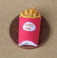1:12 Single Take Away French Fries Dolls House Miniature Food Accessory Chips Si